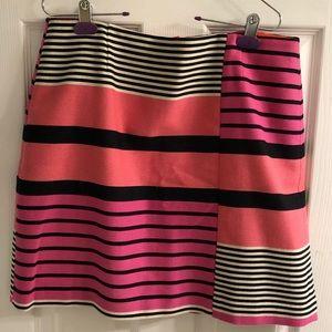 Loft striped mini skirt